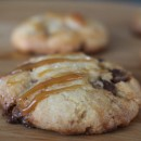 Salted Caramel Chocolate Chip Candy Bar Cookies