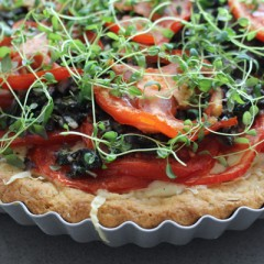 Deep-Dish Fennel-Crust Tomato Tart