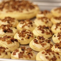 Maple Cinnamon Softies with Bacon Sprinkles