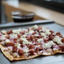 Fig Jam, Pear, Bacon SPAM & Goat Cheese Pizza
