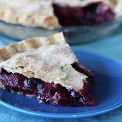Blueberry Rhubarb Strawberry Pie