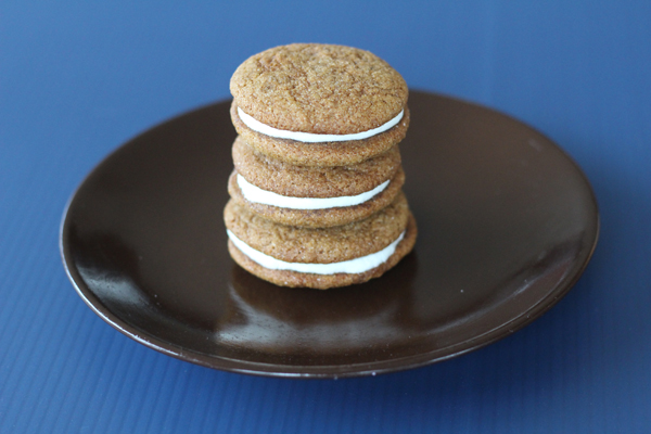 Bourbon Molasses Sandwich Cookies