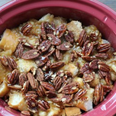Easy Apple Bread Pudding with Toasted Pecans