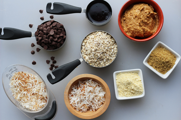 Coconut Peanut Butter Power Balls ingredients