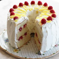 Lemon Raspberry Chiffon Cake