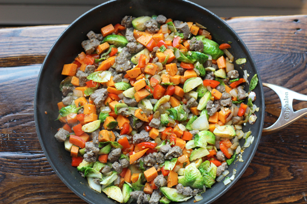 Turkey Sausage Sweet Potato Hash Bowl mix