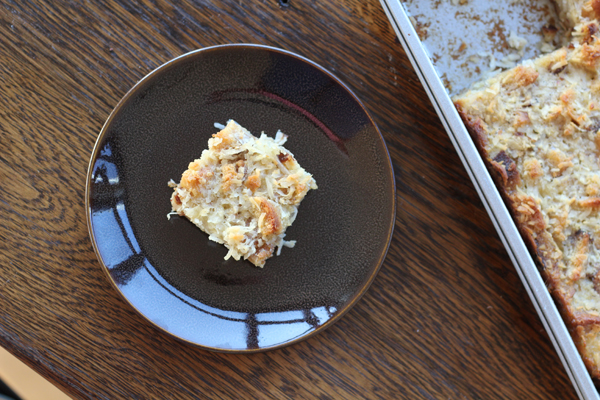 Coconut Cupcake Bread Pudding recipe