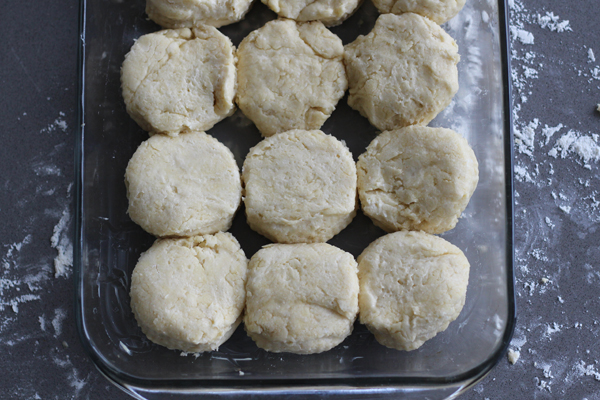 Blue Ribbon Biscuits - unbaked in a pan