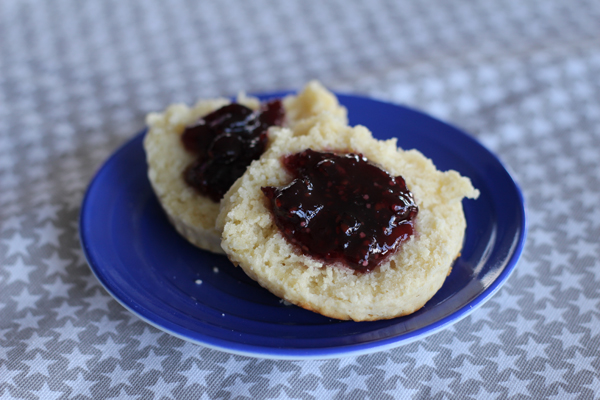 Blue Ribbon Biscuits with jam